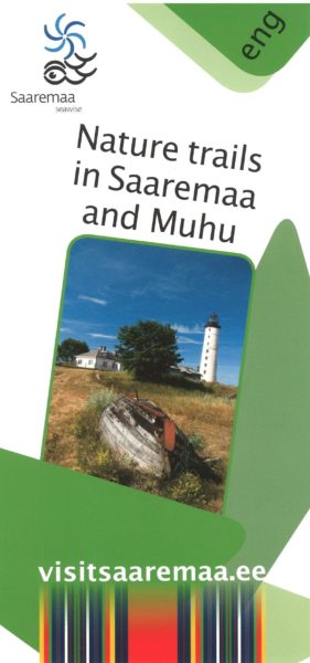 "Flaier ""Nature trails in Saaremaa and Muhu"" cover"