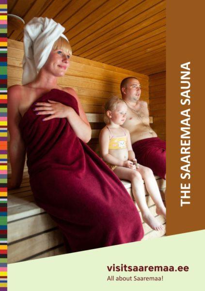 """Brochure """"The Saaremaa sauna"""" cover"""
