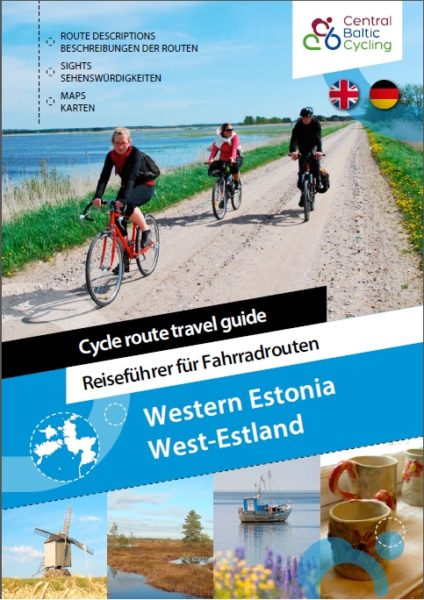 "Brochure ""Cycle route travel guide"" cover"