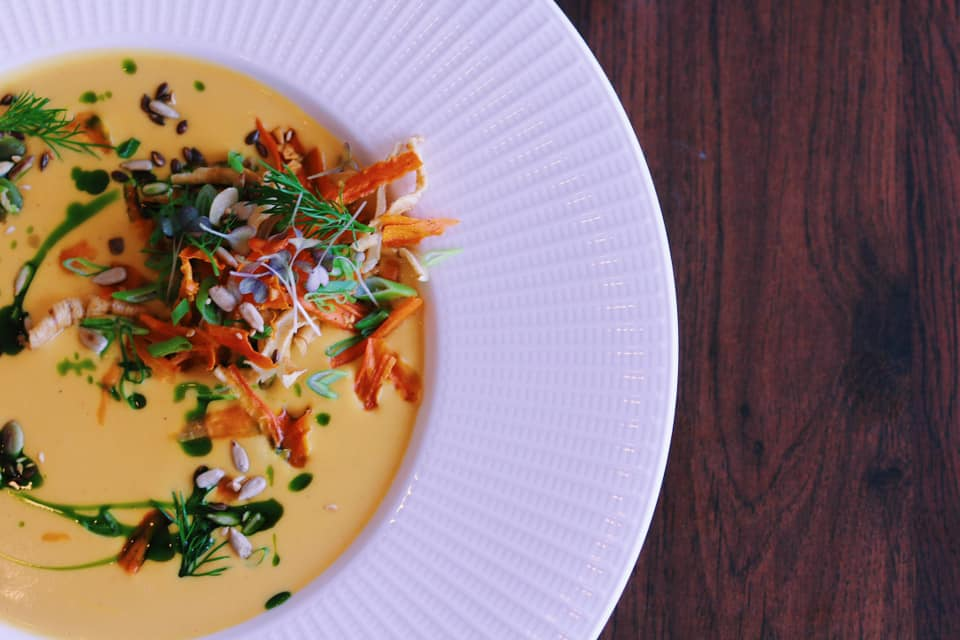 Restaurant Hafen's colourful bowl of soup