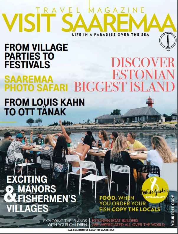 "Travel magazine ""Visit Saaremaa 2019"" cover"