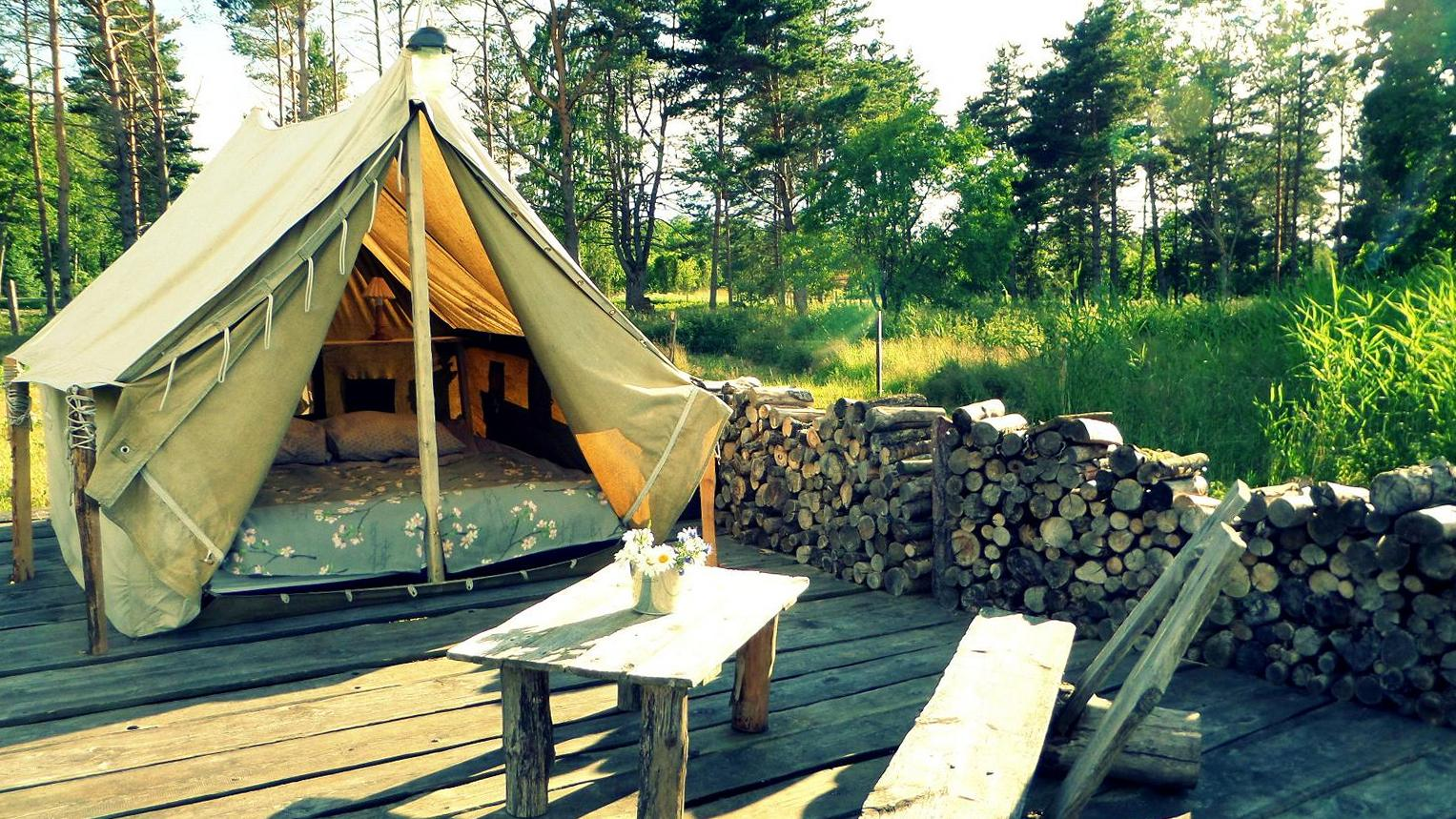 Tent is an eco friendly accommodation