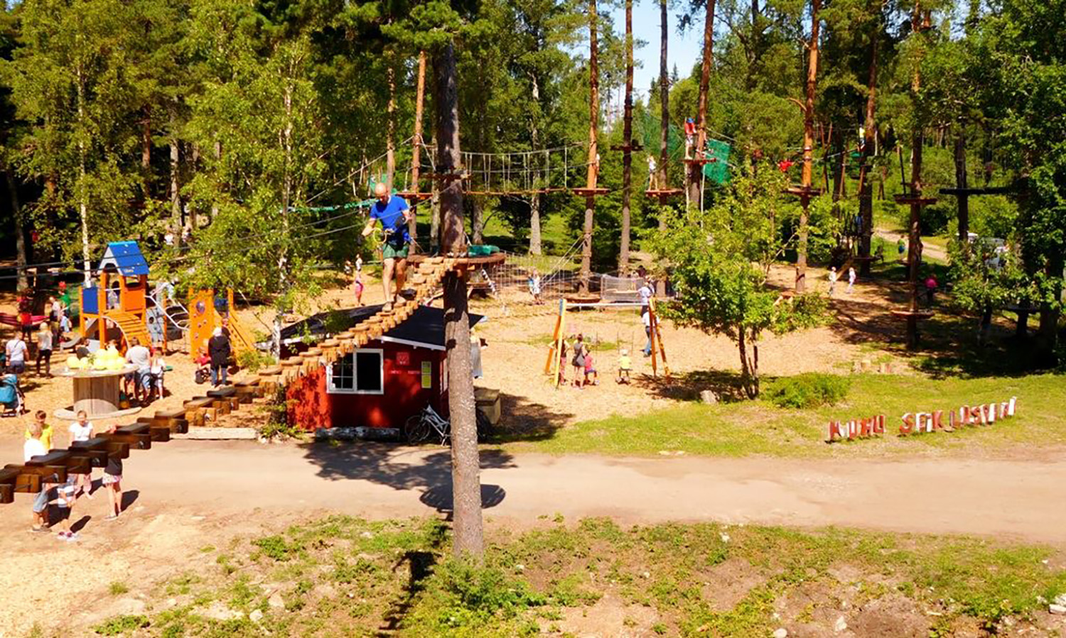 Adventure Parks age good places to visit when spending ypur family holiday in Saaremaa