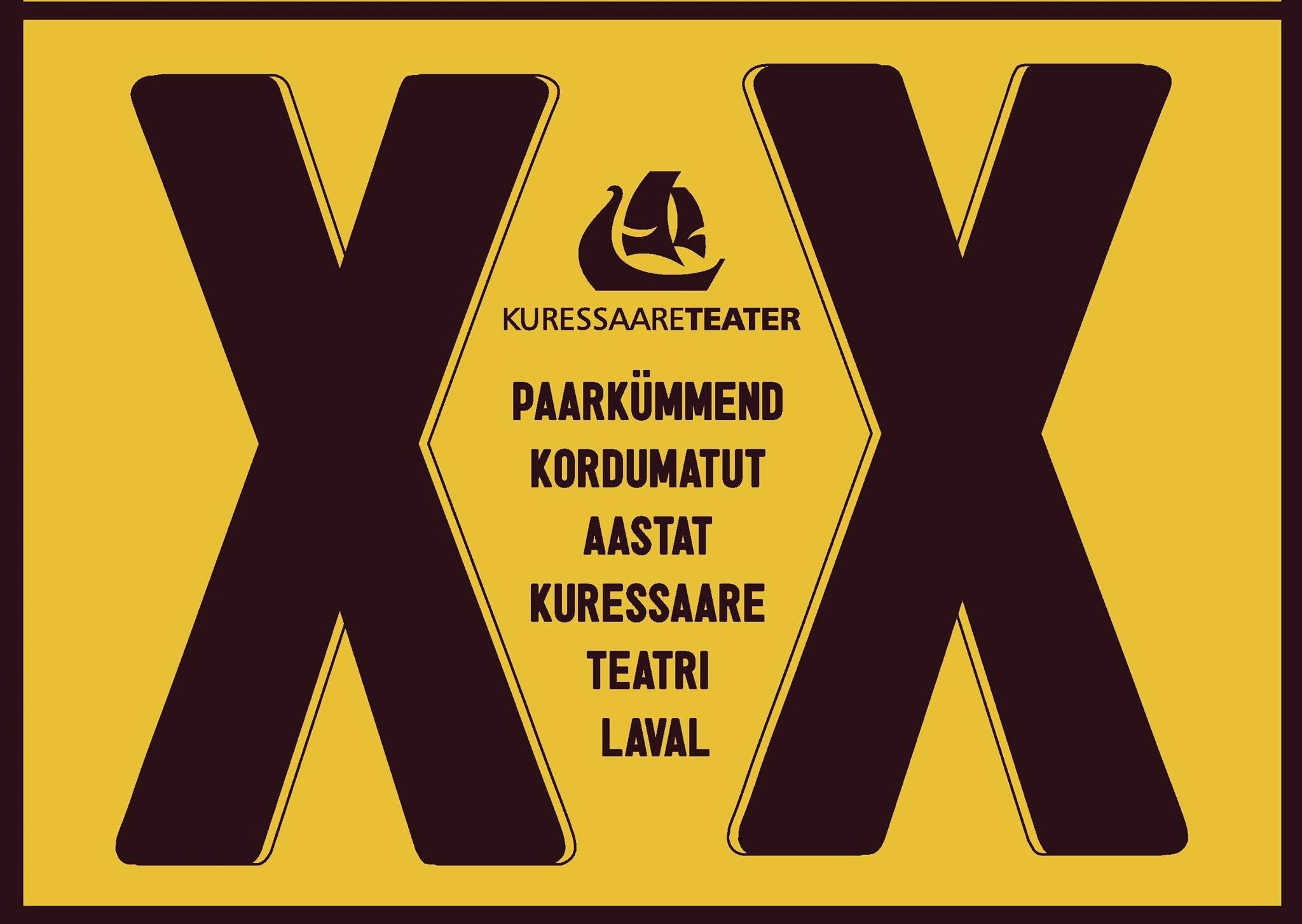 Kuressaare teatri 20nda sünnipäeva plakat