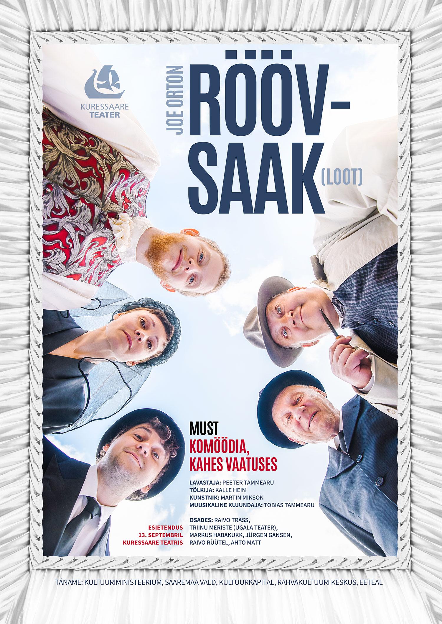 Kuressaare Teatri etenduse Röövsaak plakat