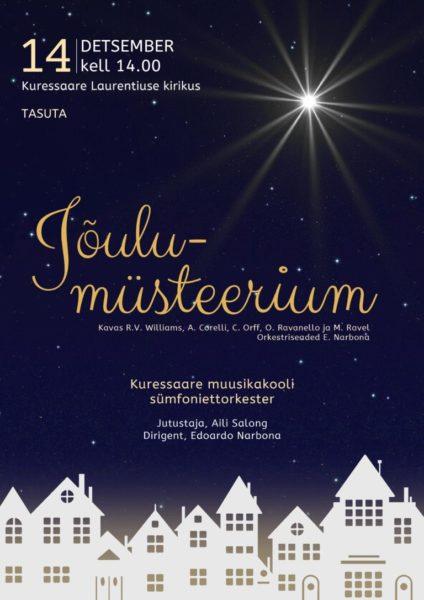 Kontserti Jõulumüsteerium plakat