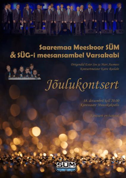 Jõulukontserti plakat