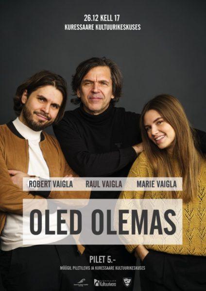 Marie, Robert ja Raul Vaigla kontserti plakat