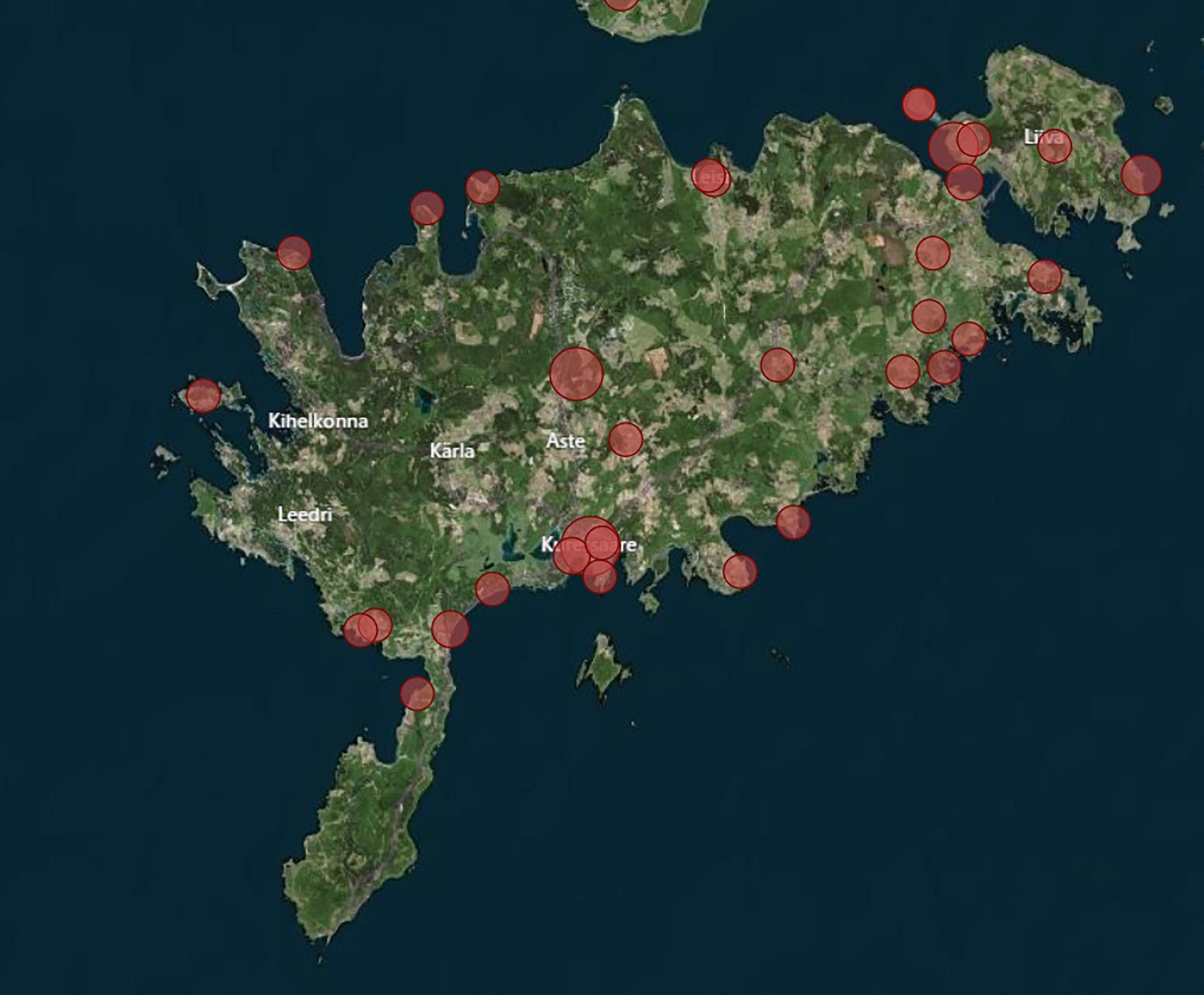 Saaremaal on filme tehtud nendes kohtades