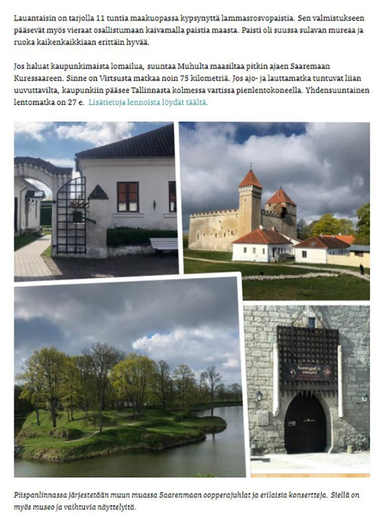 Saaremaast räägitakse ka soome keelsetes väljaannetes